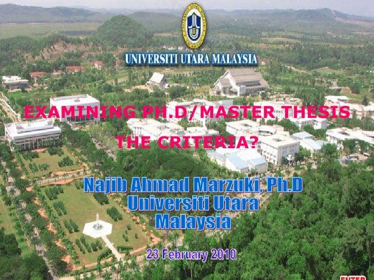 Examining Phdthesis Feb2010 Prof  Madya Dr  Najib