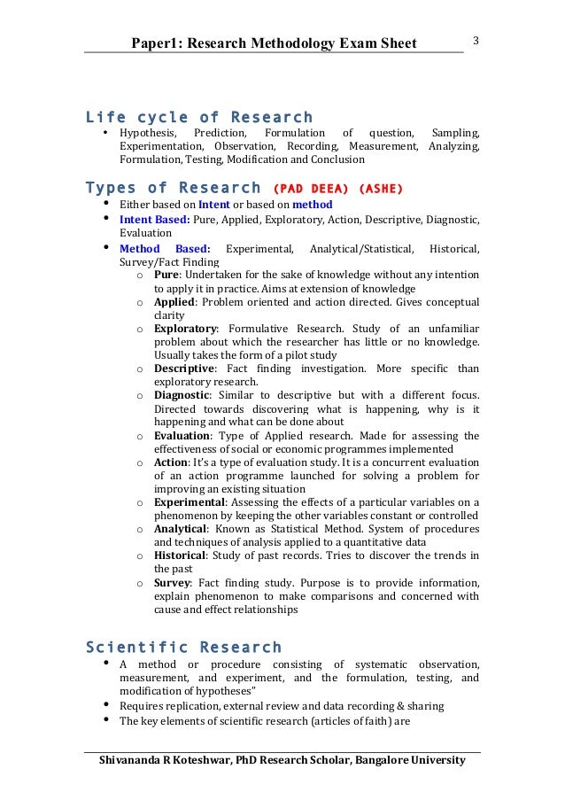 Methods section of research proposal