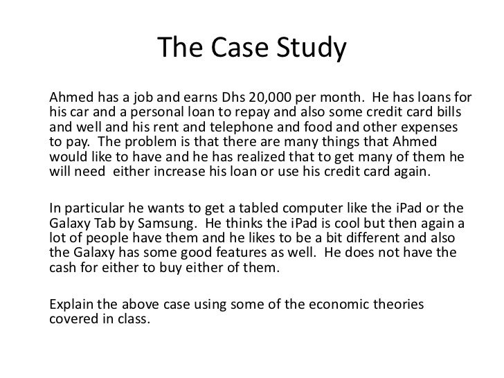 format of writing a case study