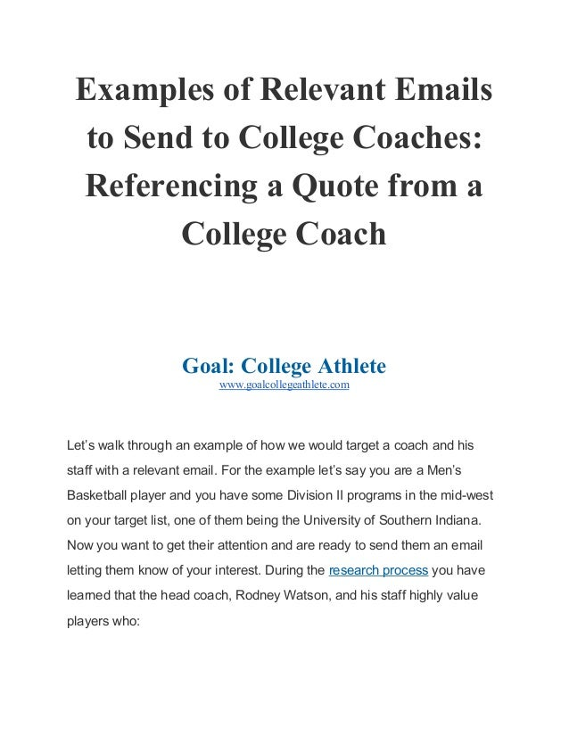 subjects for college coaches emails top academic writing websites