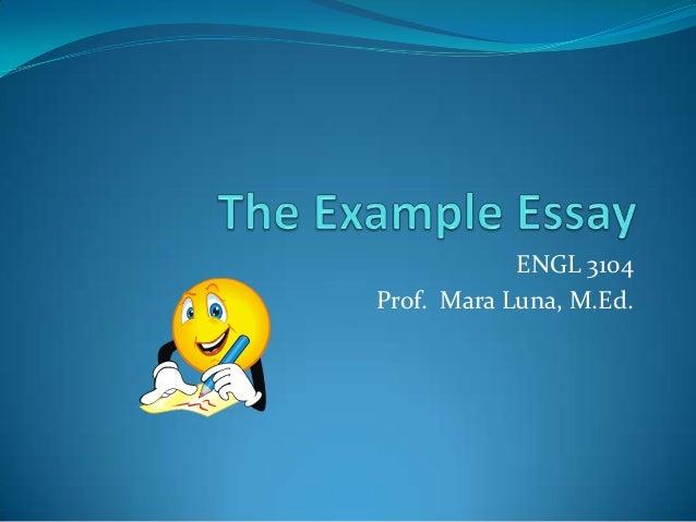 ENGL 3104Prof. Mara Luna, M.Ed.