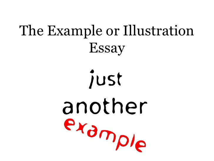 Illustrative essay sample