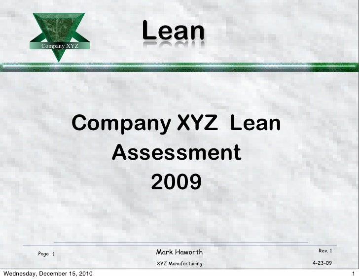 Example lean presentation 12 5-10