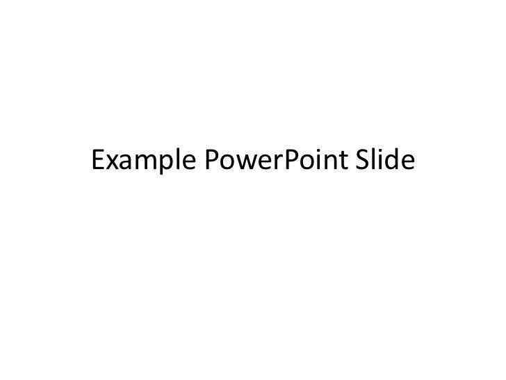 Example Powerpoint Slide