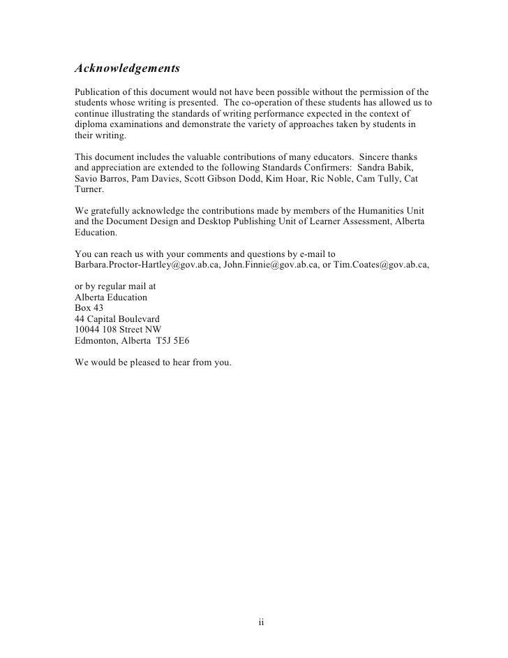 Alberta diploma essay examples