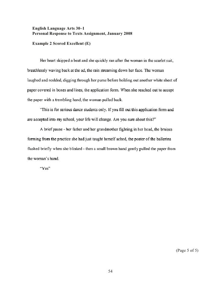 How to write a personal response essay alberta