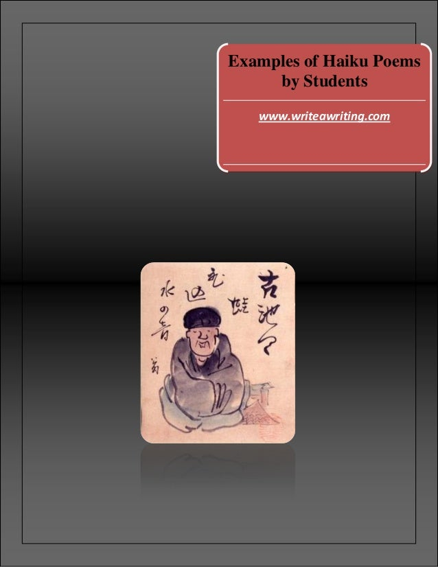 Examples of haiku poems by students