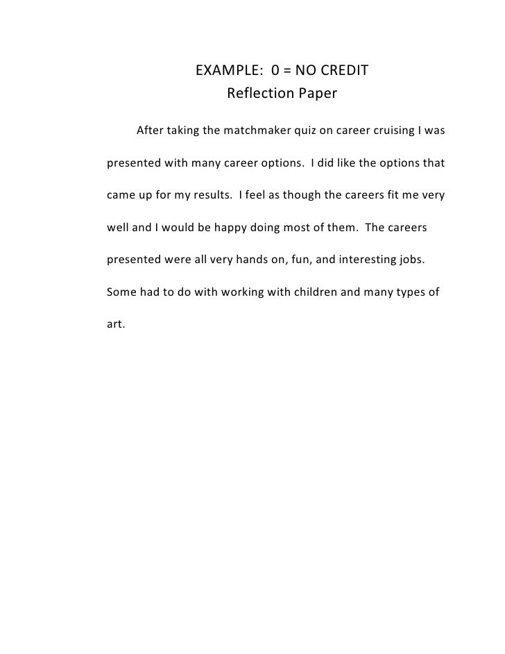 Reflection paper help?