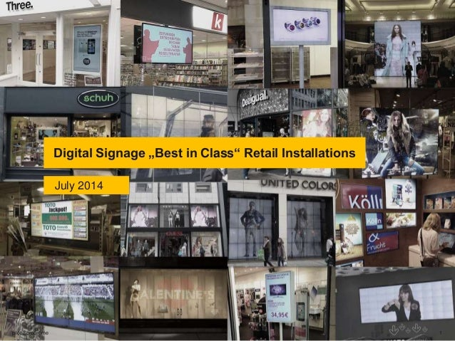 "Digital Signage ""Best in Class"" Retail Installations pilot Screentime 1 July 2014"