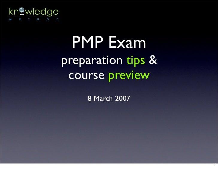 PMP Exam Prep Course Preview