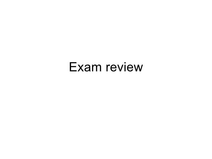 4th Test - Exam Review