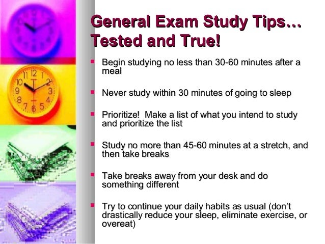 I need some study tips for a very important test!!?