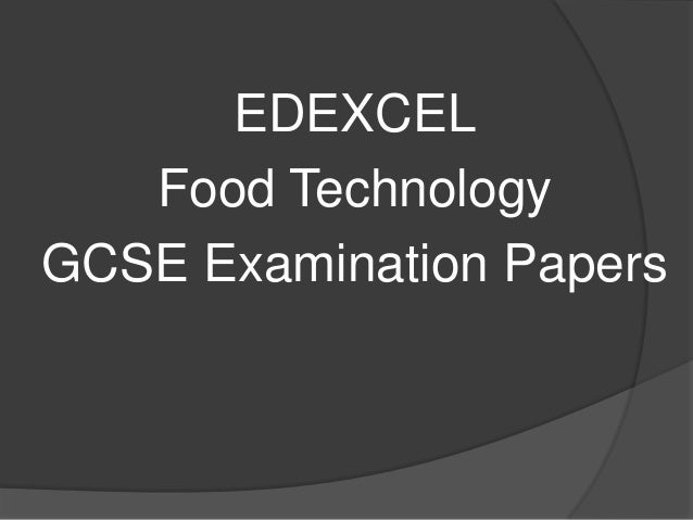 Food Technology Exam technique 2012