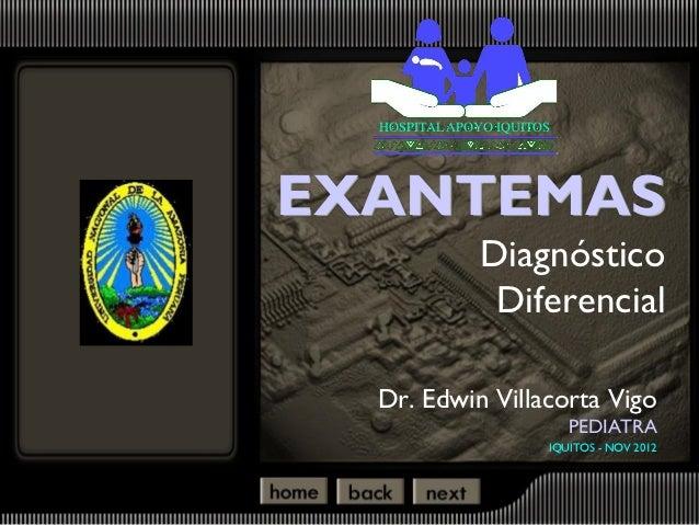 Exantemas 2012