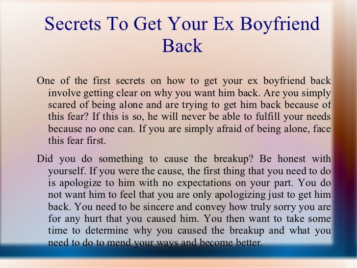 How To Make An Ex Want U Back
