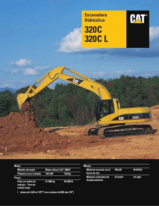 Excavadora cat 320c,cl pdf