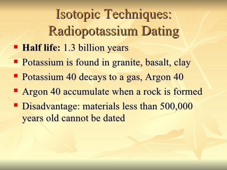 Potassium-40 dating accuracy