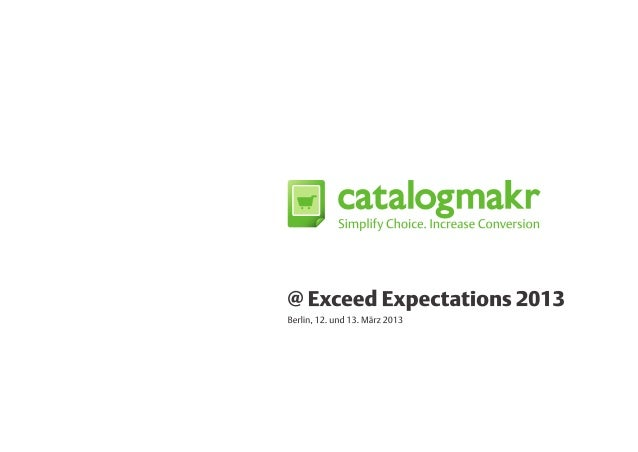 Catalogmakr-Pitch auf der Exceed Expectations, Berlin 2013