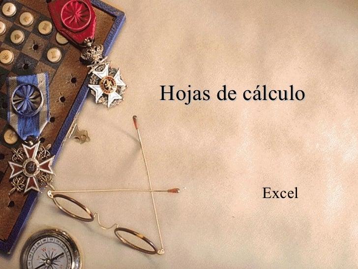 Hojas de cálculo Excel