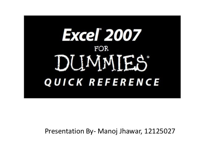 Presentation By- Manoj Jhawar, 12125027