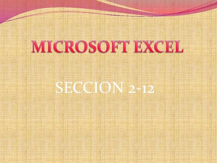 Excel 2 12 walter