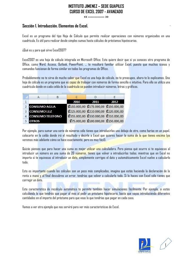 Curso De Excel Manual De Excel 2007 Avanzado | Review Ebooks