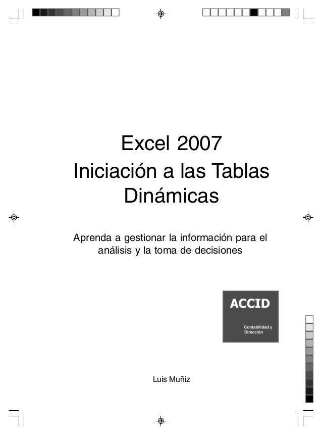 Excel 2007 iniciacion de tablas dinamicas