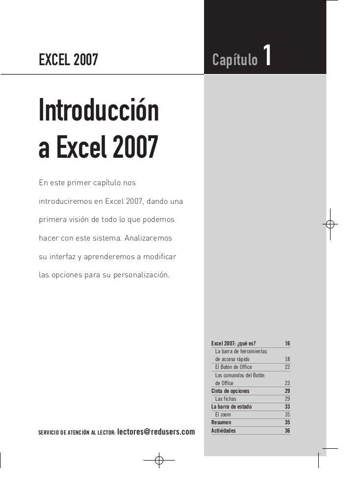 EXCEL 2007                                              Capítulo               1Introduccióna Excel 2007En este primer cap...