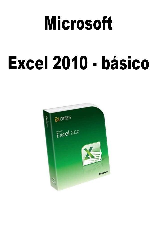 MicrosoftExcel 2010 - básico