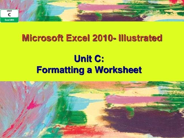Excel 2010 Unit C PPT