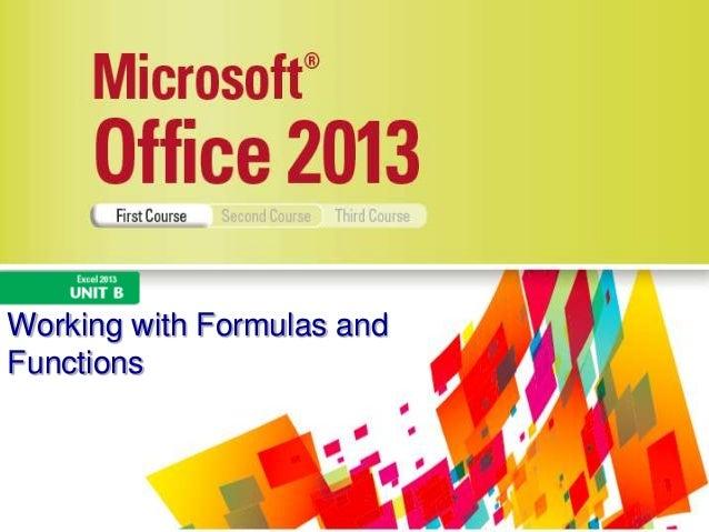 Excel 2013 Unit B
