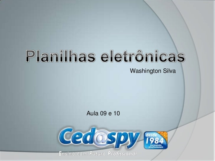 Washington SilvaAula 09 e 10