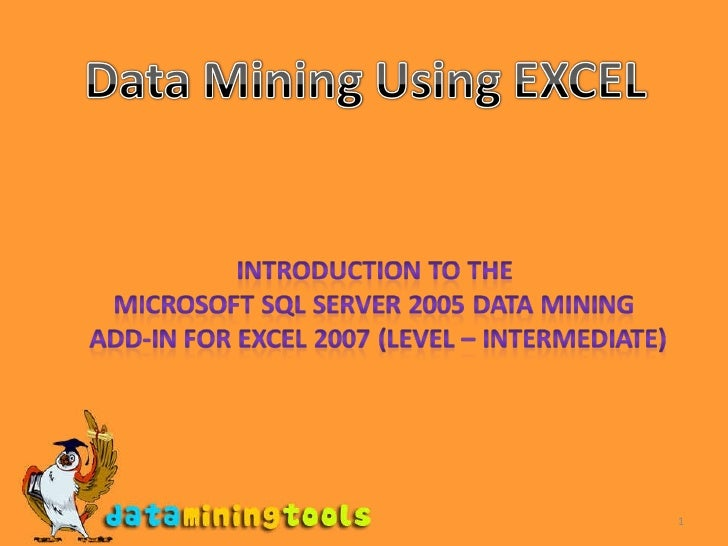 Excel Datamining Addin Advanced