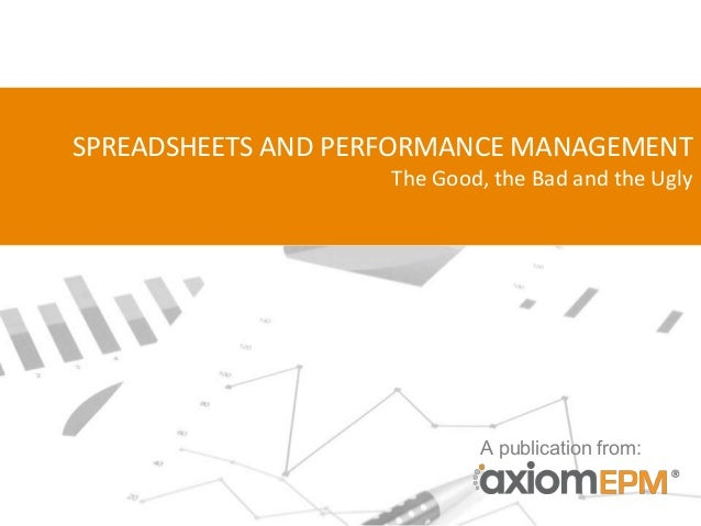 Spreadsheets and Performance Management: