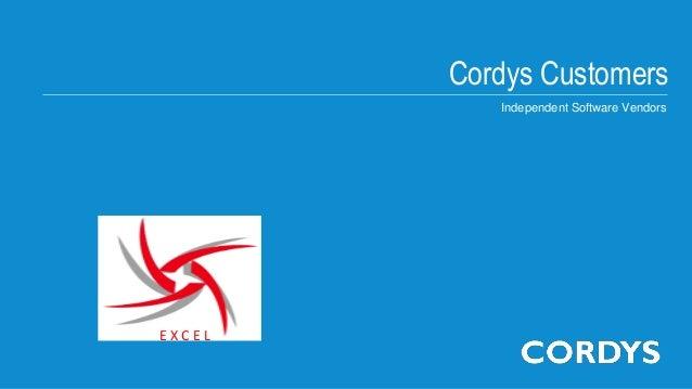 Cordys CustomersIndependent Software VendorsE X C E L
