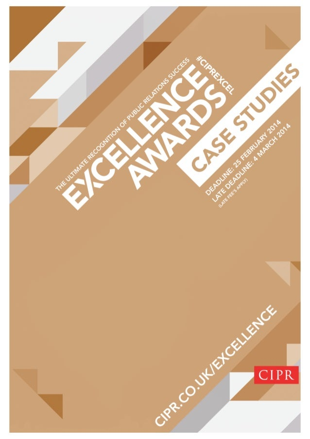 CIPR Excellence Awards case studies