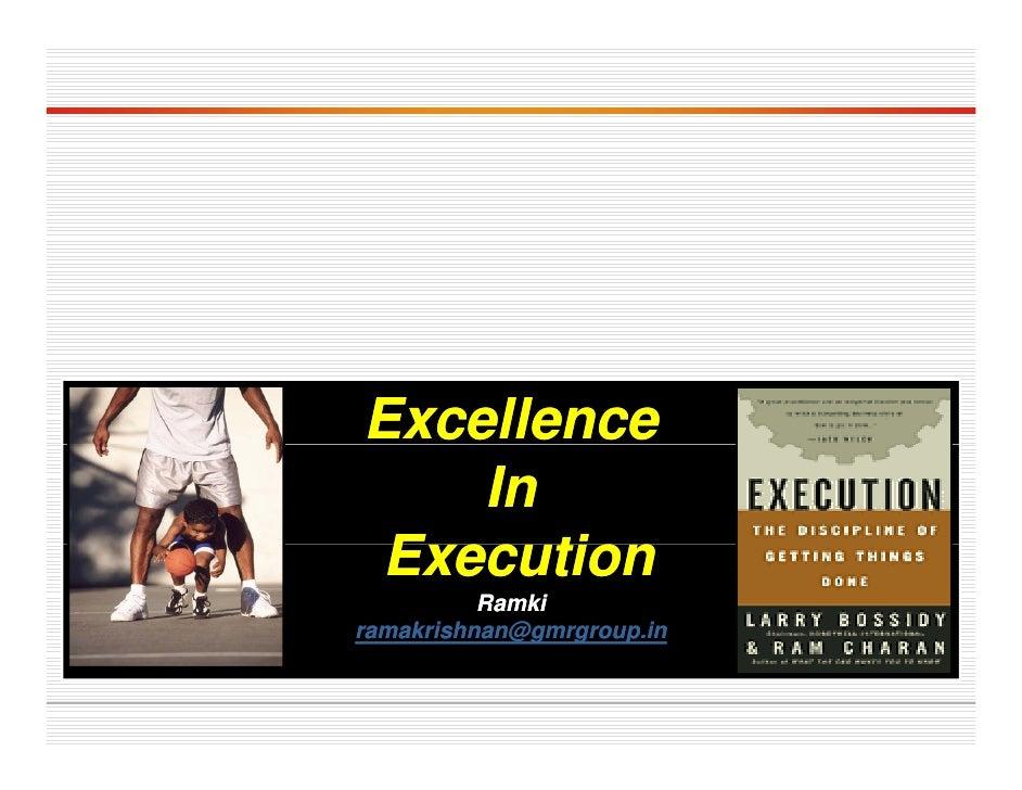 Excellence     In  Execution  E     ti           Ramki             @g g    p ramakrishnan@gmrgroup.in