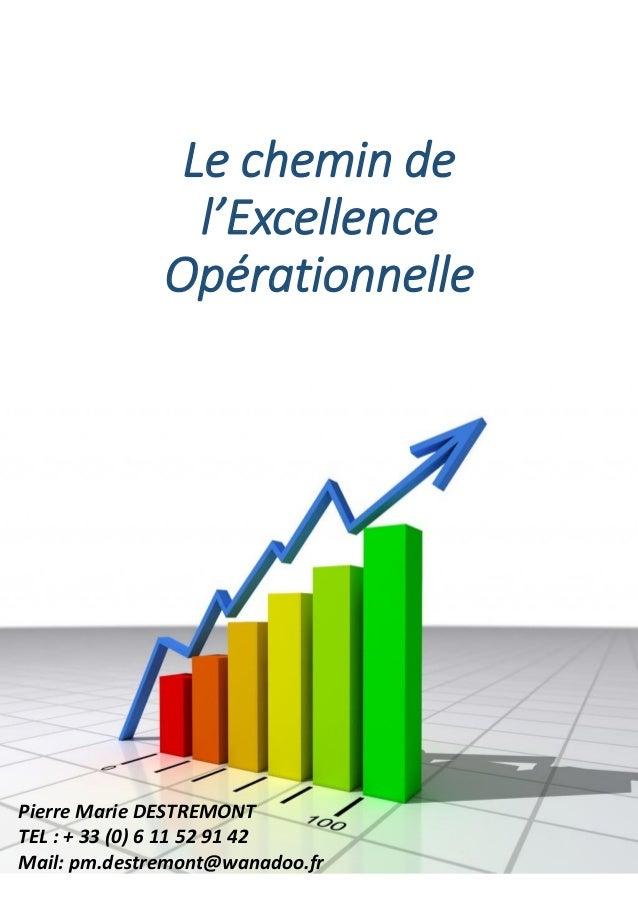 Le chemin de l'Excellence Opérationnelle Pierre Marie DESTREMONT TEL : + 33 (0) 6 11 52 91 42 Mail: pm.destremont@wanadoo....