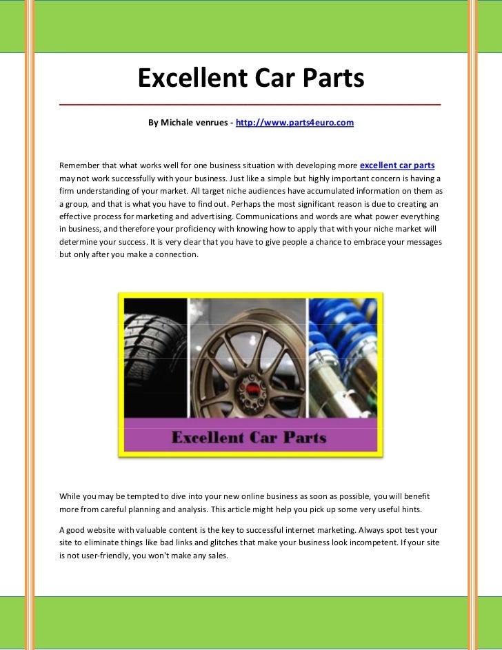 Excellent Car Parts_____________________________________________________________________________________                  ...