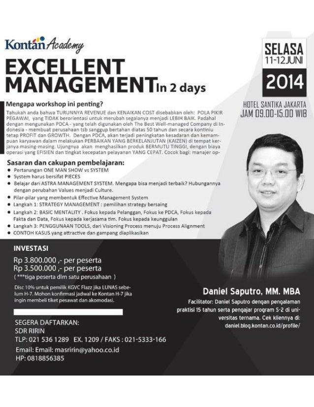 Excellent management