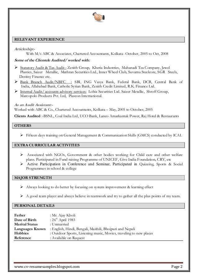 accounting experience resumes - Romeo.landinez.co