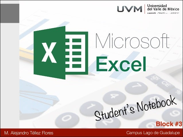 Excel Notes - Block #3