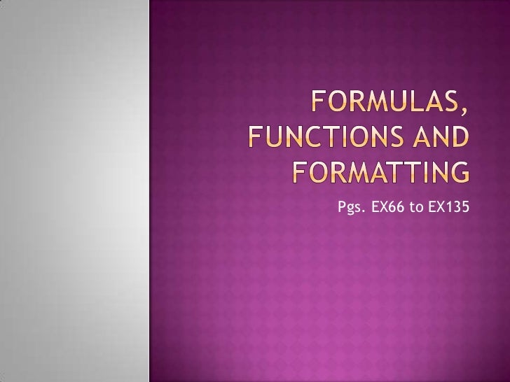 Excel project 2 formulas functions and formatting