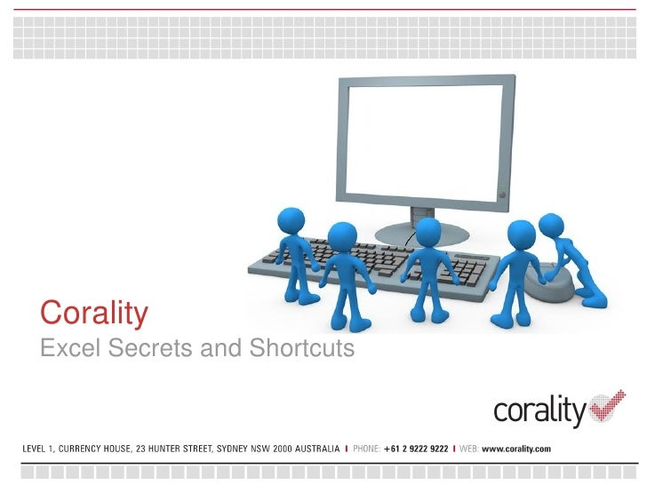 Corality - Excel secrets and shortcuts