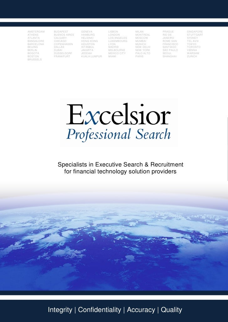 Excelsior Professional Search - International - Brochure