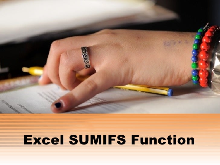 Excel SUMIFS Function<br />