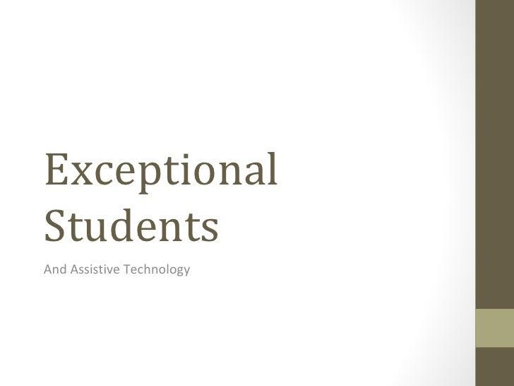 Exceptionalities