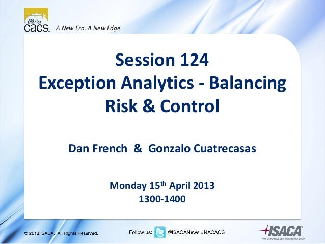 Exception analytics - Balancing Risk & Control