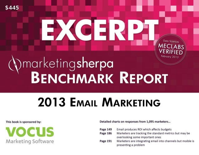Excerpt 2013-email-marketing-benchmark-report
