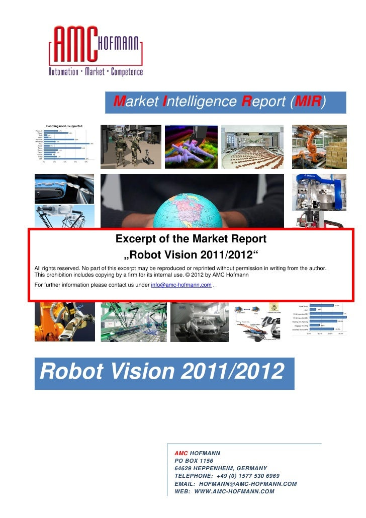 Excerpt of Market Intelligence Report Robot Vision 2012
